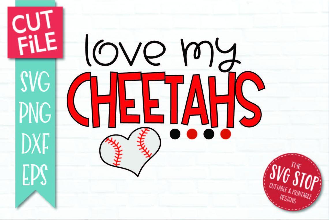 Download Baseball Love Cheetahs - SVG, DXF, PNG, EPS - Cut File
