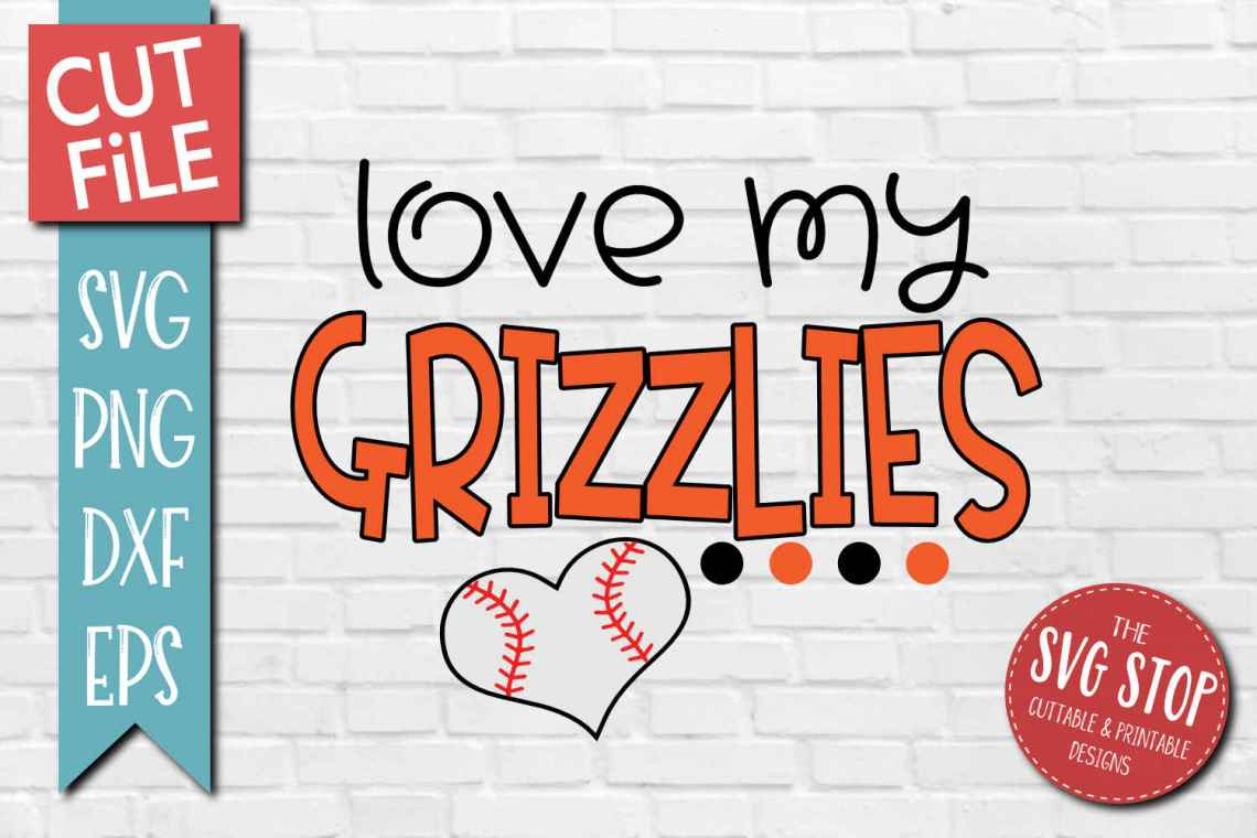 Download Baseball Love Grizzlies - SVG, DXF, PNG, EPS - Cut File
