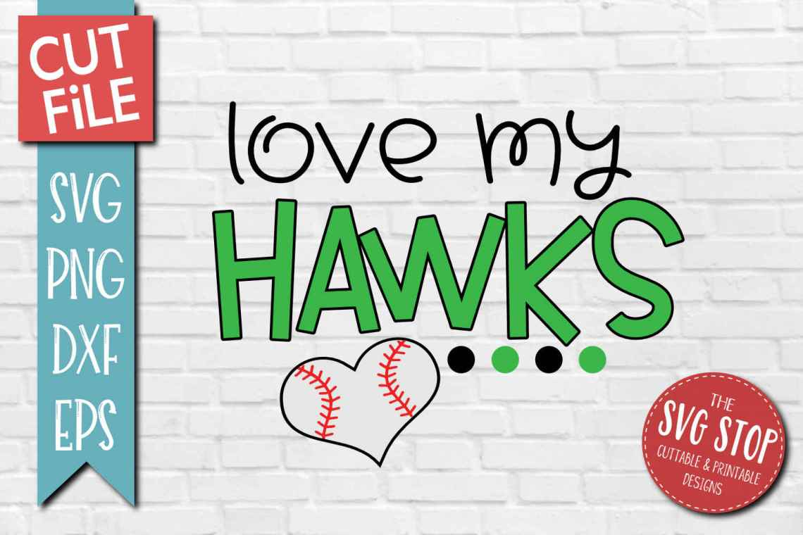 Download Baseball Love Hawks - SVG, DXF, PNG, EPS - Cut File