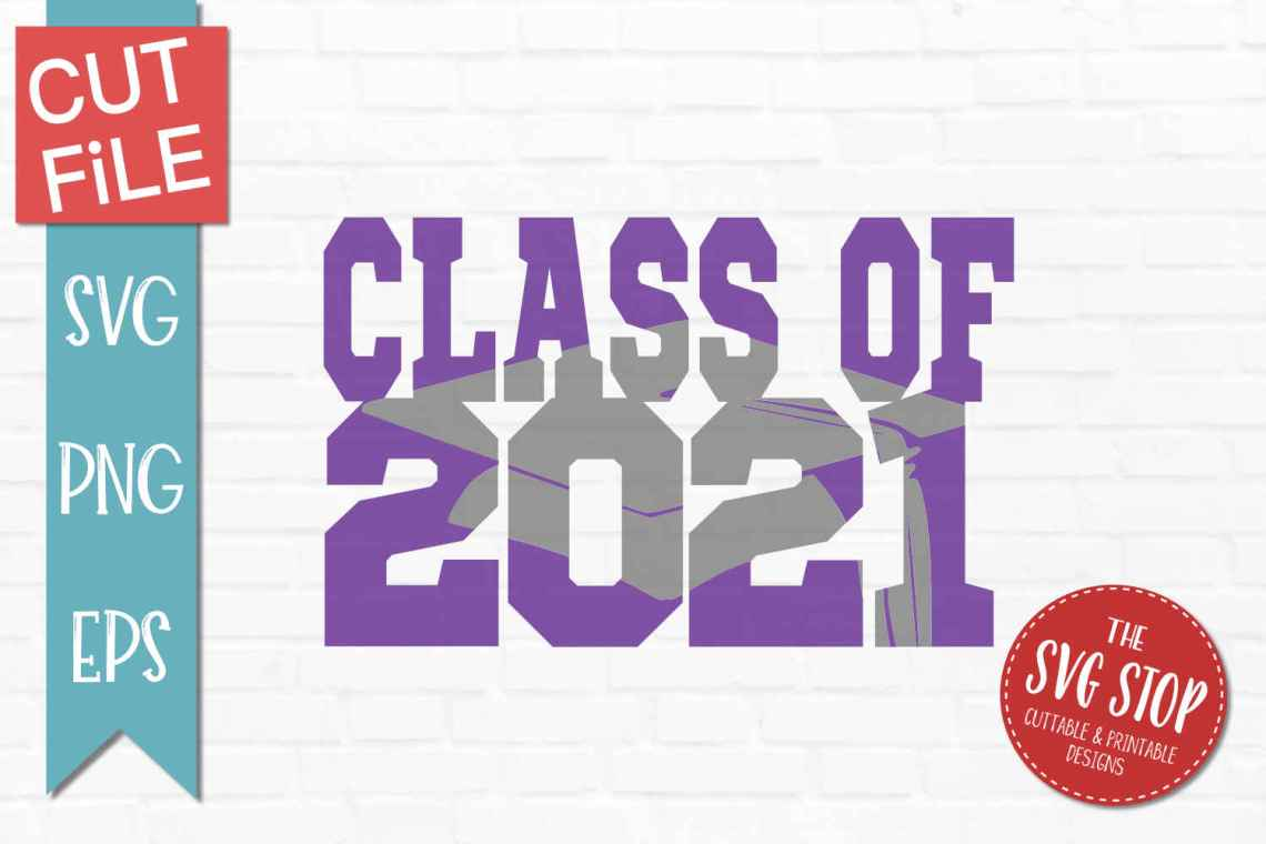 Download Class of 2021 Knockout - SVG, DXF, PNG, EPS - Cut File