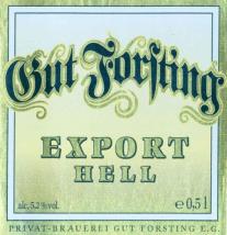 Gut Forsting Export Hell (Helles), 500ml, 5.2%