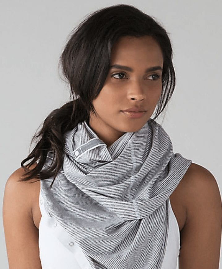 tonka stripe heathered slate vinyasa scarf