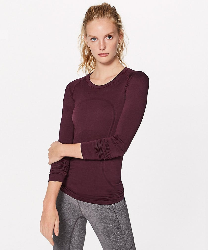 Swiftly Tech LS Crew Garnet