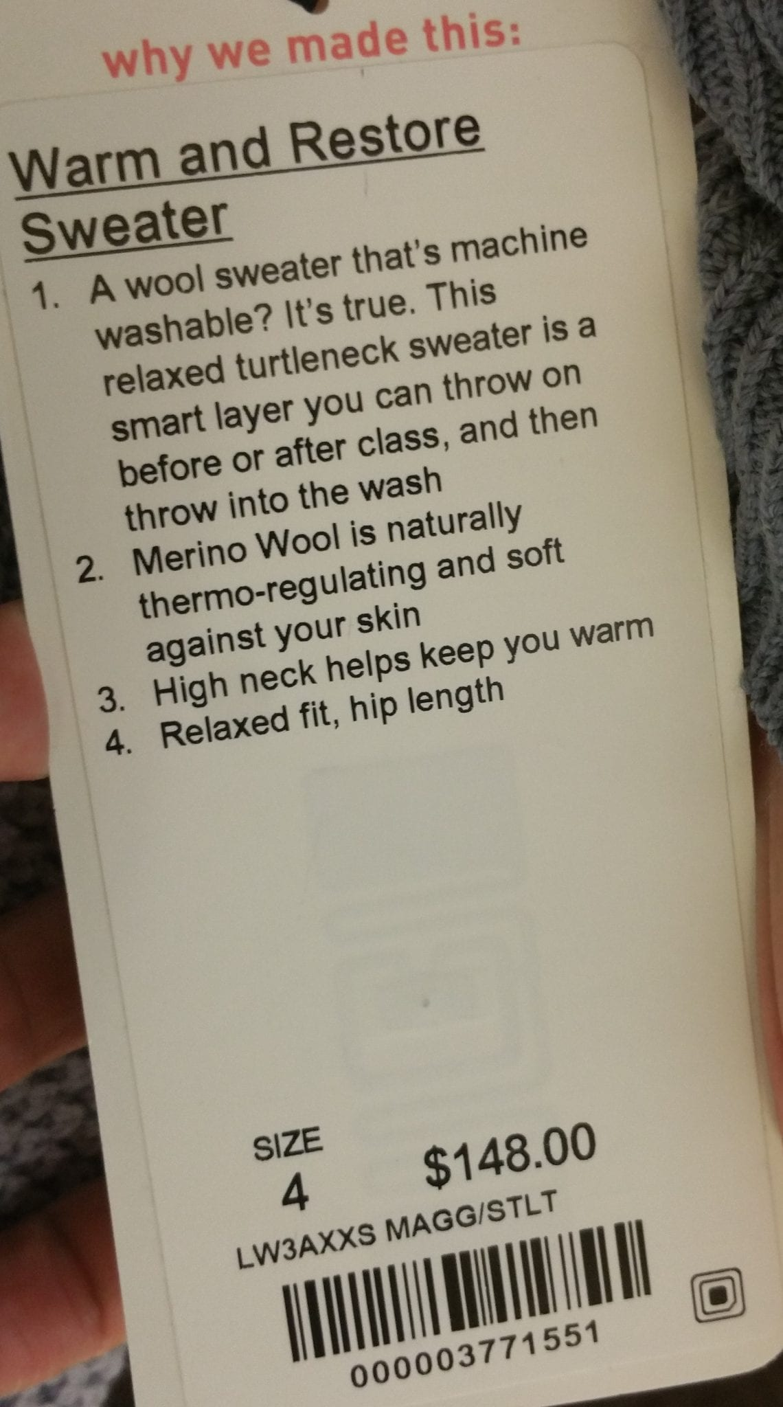 Warm and Restore Sweater
