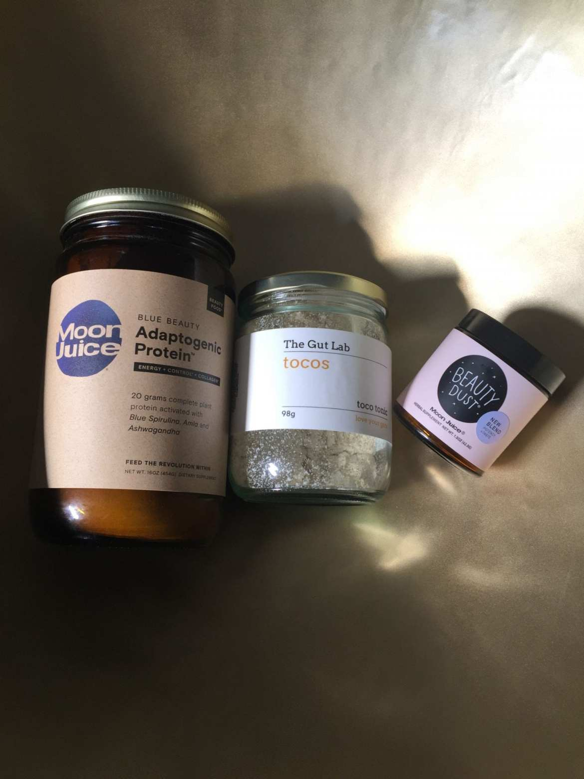 Moon Juice Beauty Dust, Adaptogen Protein and Tocotrienol