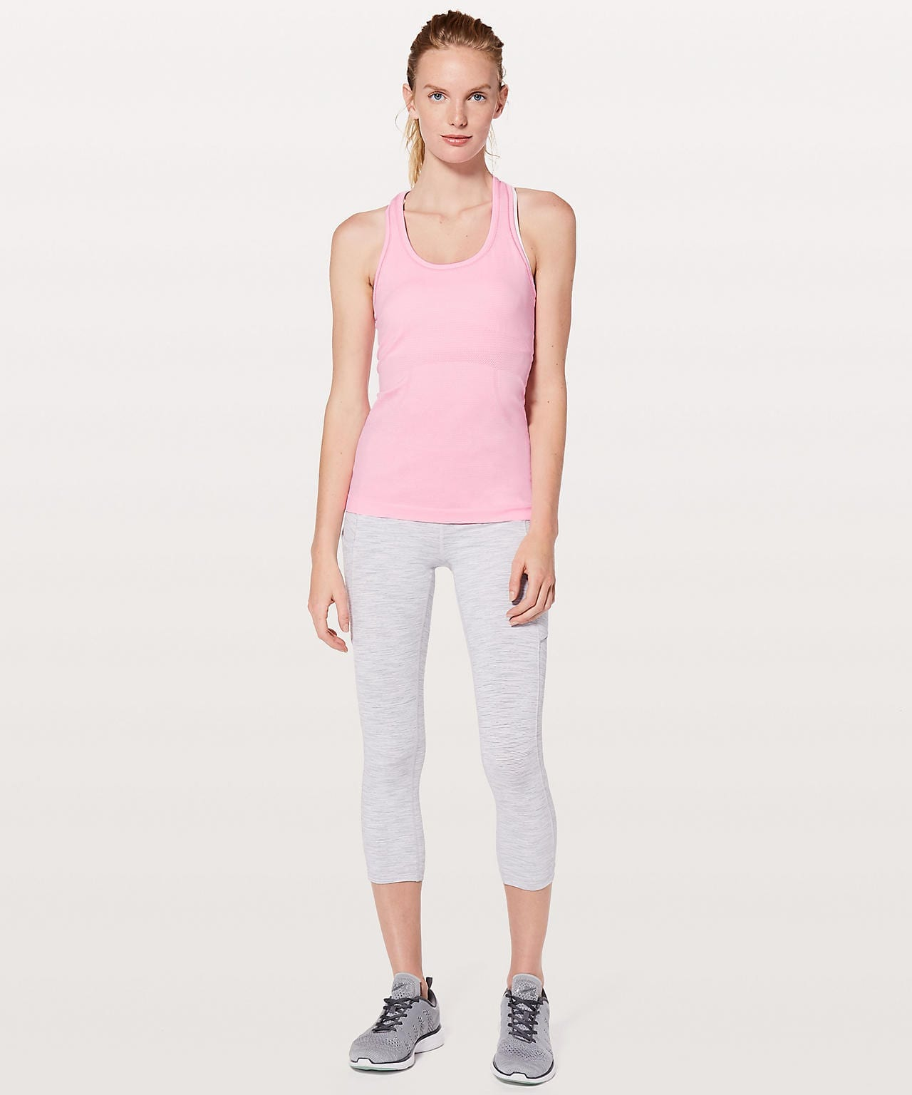 Swiftly Tech Racerback - Miami Pink