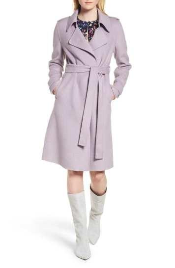 Badgley Mischka Double Face Wool Blend Coat