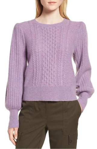Cable Cashmere Sweater NORDSTROM SIGNATURE