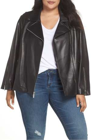 Classic Leather Moto Jacket MICHAEL MICHAEL KORS