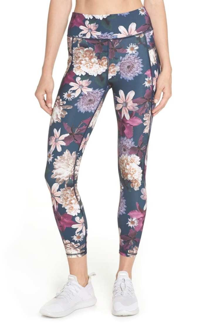 Sweaty Betty Zero Gravity Print Ankle Leggings