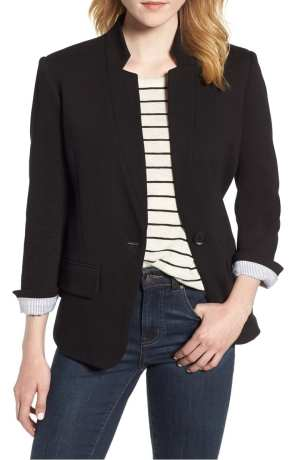 Cotton Blend Knit Blazer