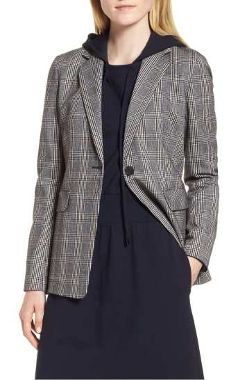 Elbow Patch Plaid Stretch Wool Jacket NORDSTROM SIGNATURE Nordstrom Anniversary Sale 2018
