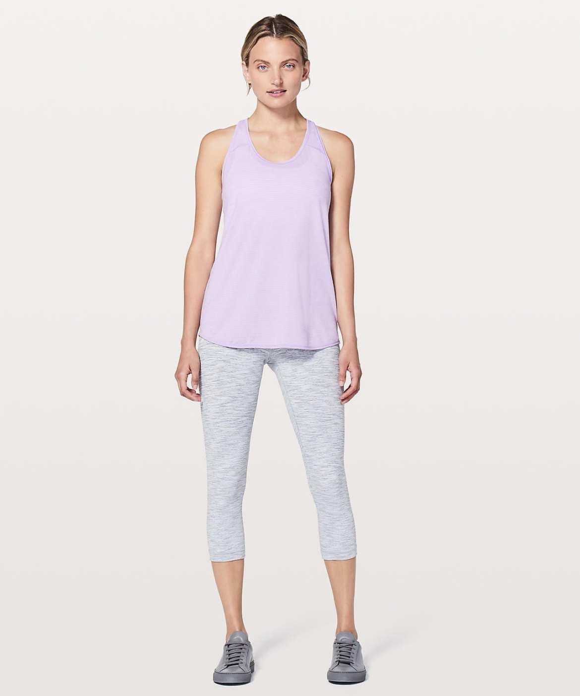 Lululemon Upload - Essential Tank - Heathered Sheer Violet
