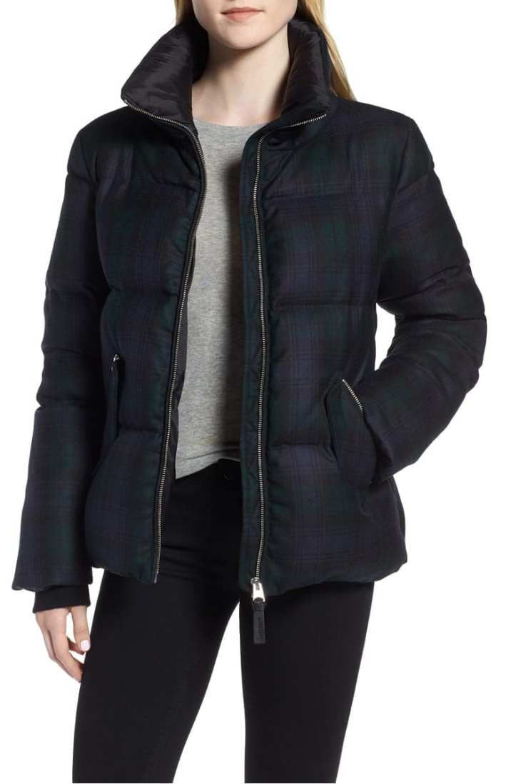 Mackage Plaid Water Repellent Down Jacket