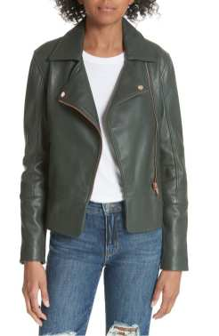 Lizia Leather Biker Jacket, Ted Baker, Nordstrom Anniversary Sale 2018