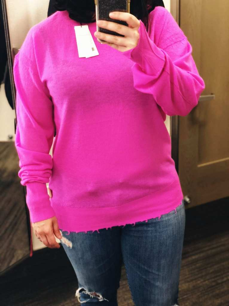Nordstrom Anniversary Sale 2018 Public Access, Helmut Lang Distressed Sheer Cashmere Sweater