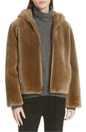 Plush Fleece Zip Front Hoodie VINCE