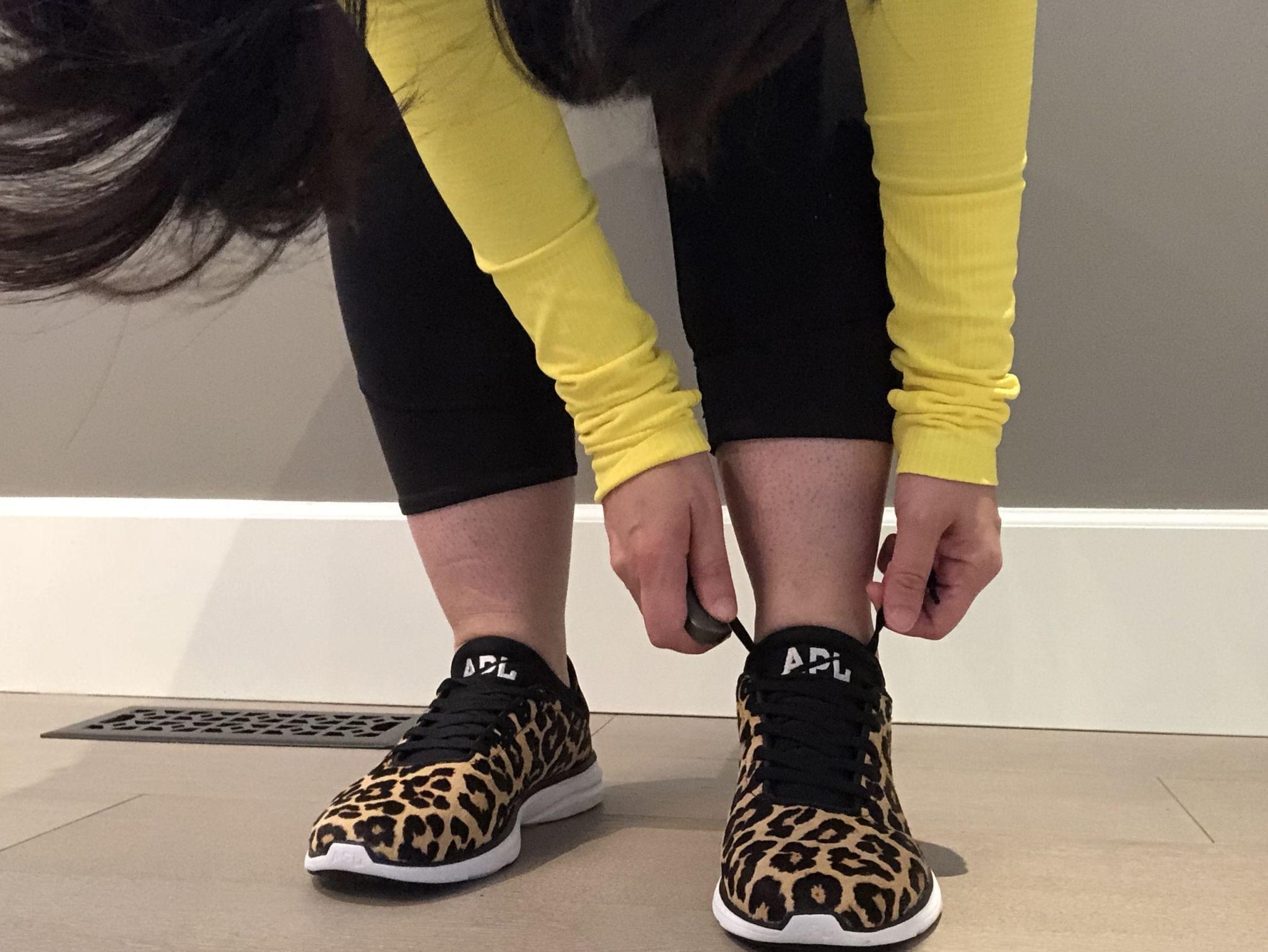 Athletic Propulsion Labs Phantom Leopard Black White Sneakers Calf Hair, Athletic Propulsion Labs Phantom Leopard