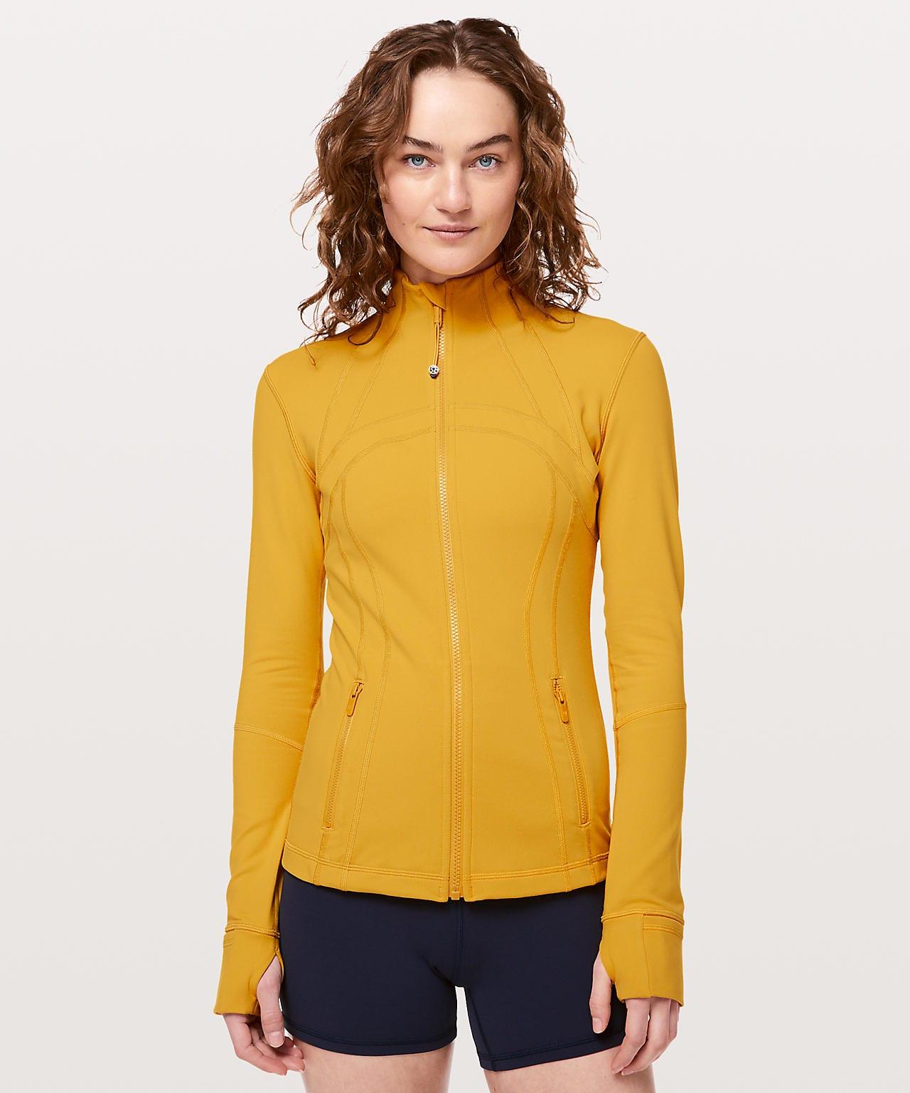 The Lululemon Upload, Define Jacket Honey Lemon, Lululemon Yellow