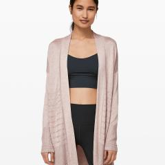 Graceful Embrace Wrap Heathered Pink Bliss