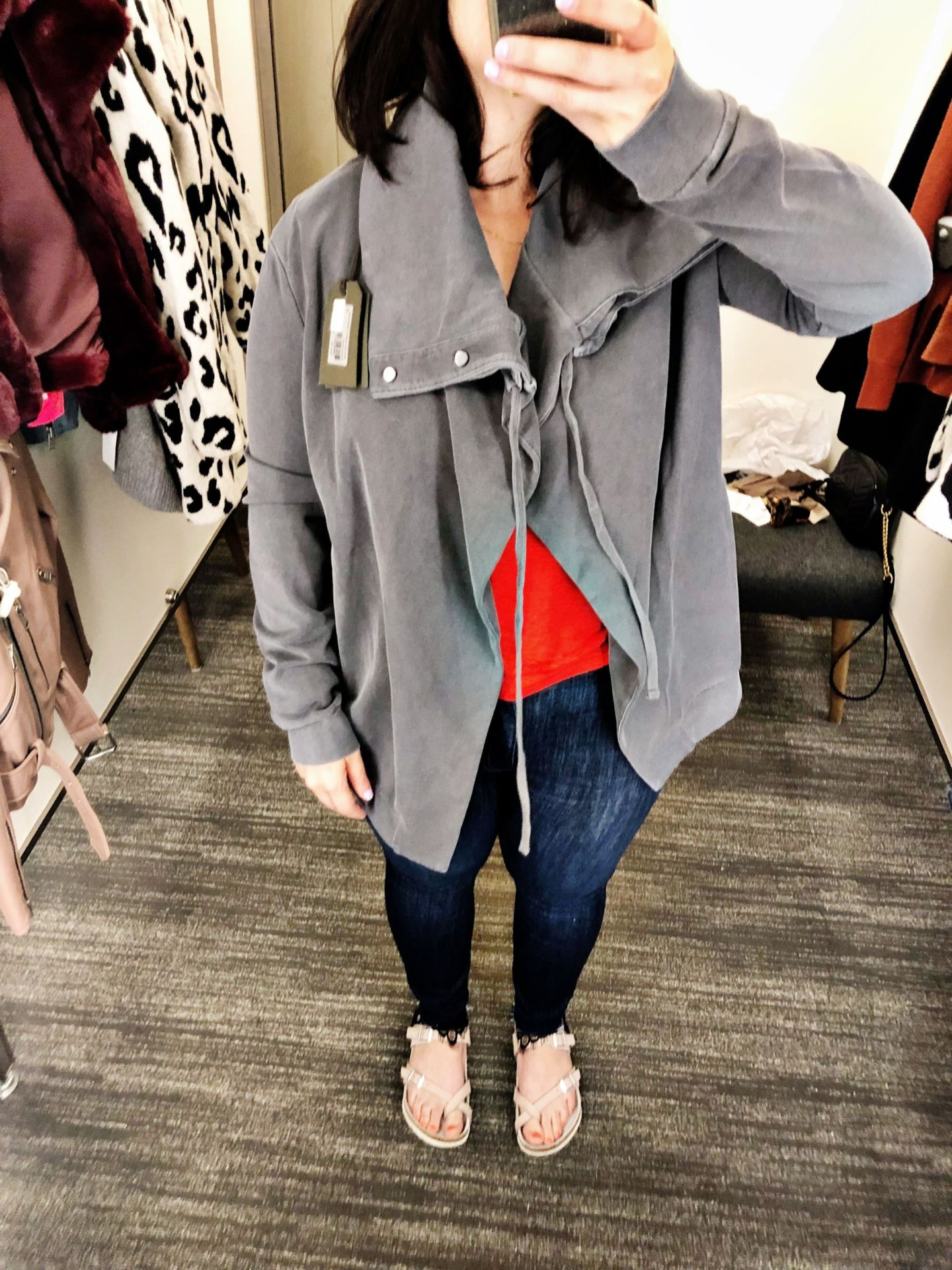 ALLSAINTS Brooke Knit Jacket | Anniversary Sale 2019 Dressing Room Selfies