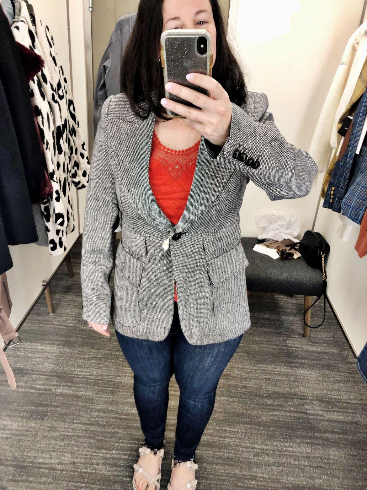 Anniversary Sale Dressing Room Try-Ons | Smythe Blazer, Smythe Birkin Blazer