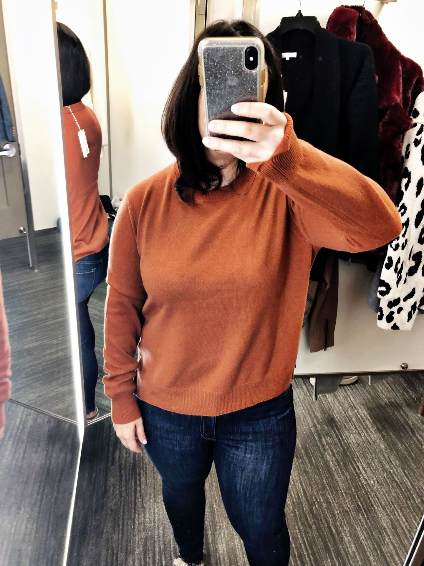 Vince Step Hem Cashmere Sweater Spice | Anniversary Sale 2019