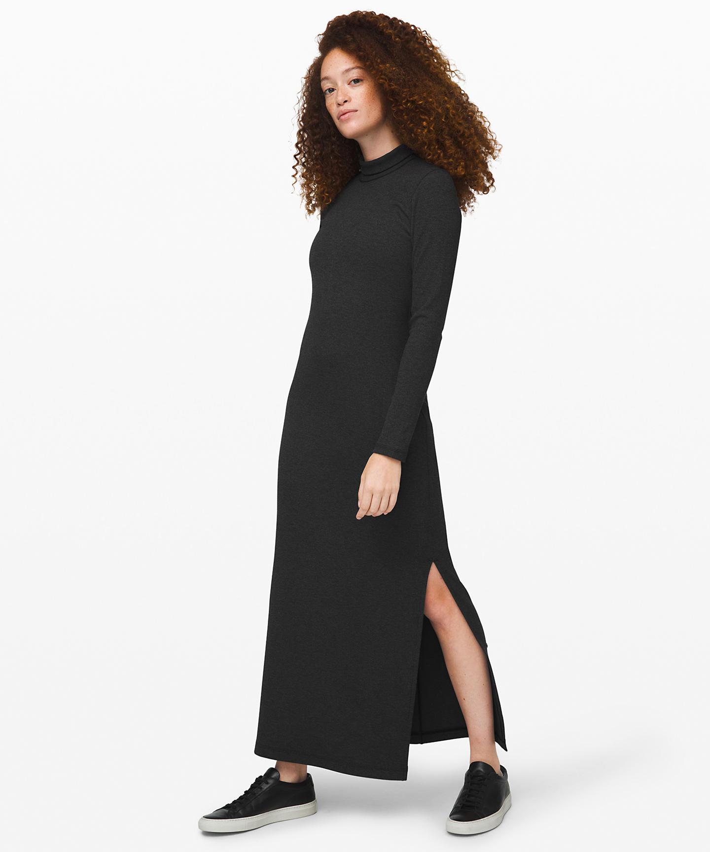 Kitsilano Turtleneck Rib Dress
