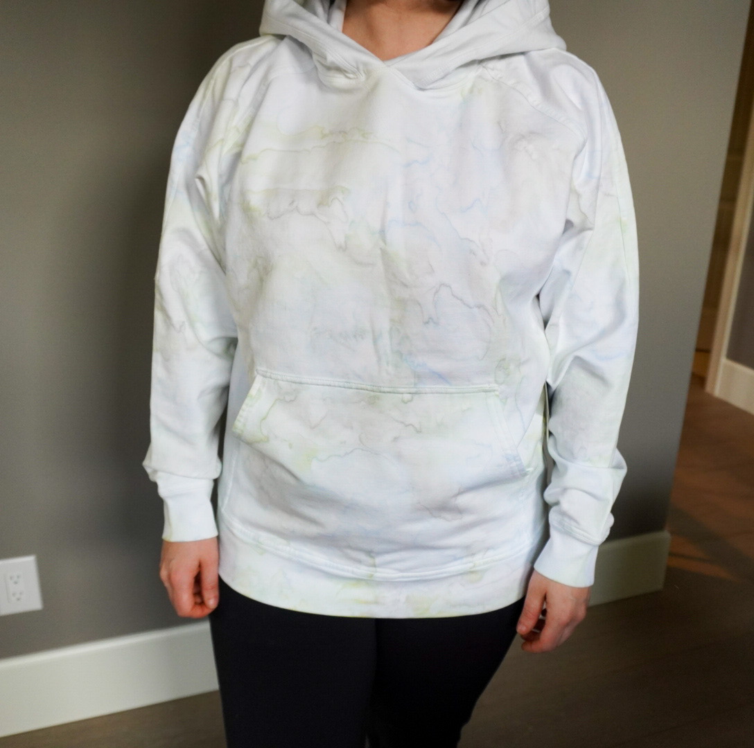 Coronavirus Trends: Lululemon Tie-Dye Hoodie | LA Pullover Hoodie Watercolor Wash White/Stargaze/Daydream/Key Lime