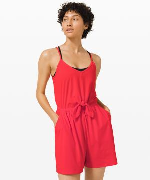 Handle the Heat Romper_Carnation Red