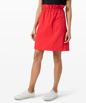 Trip Taker Skirt Carnation red
