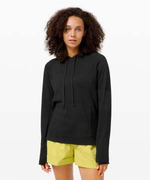 Sit in Lotus Hoodie Sweater black