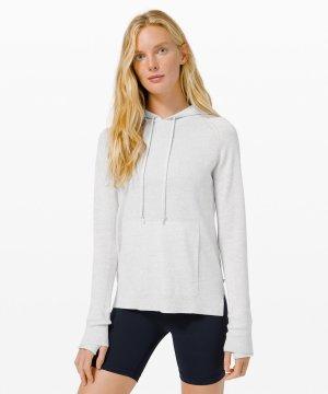 Sit in Lotus Hoodie Sweater light grey