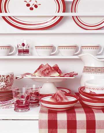 Swedish Decorating Ideas Check Fabric From Country Living