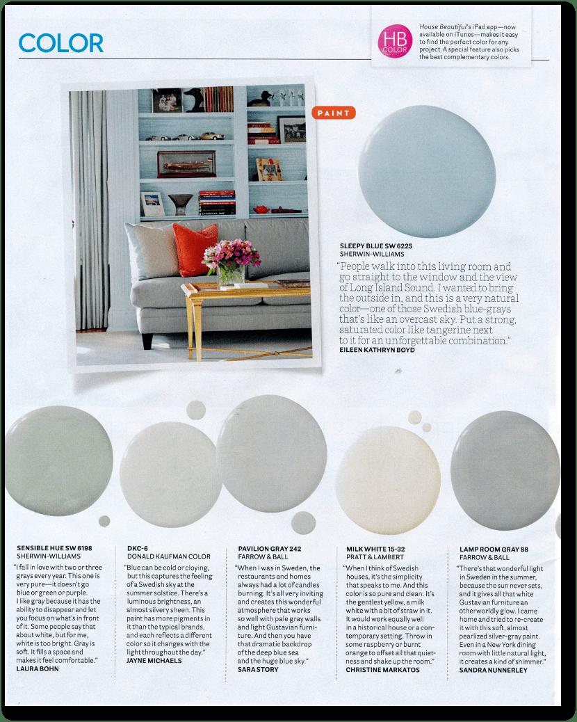 12 Interior Designers Pick Their Favorite Swedish Paint Colors. House  Beautiful Designers Favorite Paint Colors