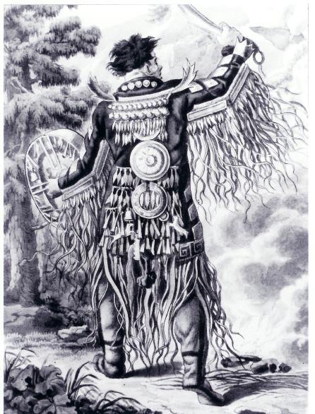 Gravure de chamane toungouse, Musée de l'Homme