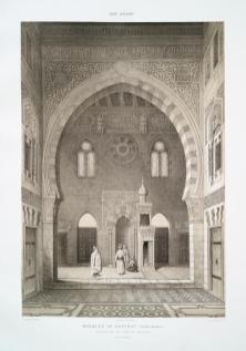 Prisse d'Avennes - L'art arabe 2 - Mosquée de Qaytbay (intra-muros) élévation du côté du mihrab (XVe. siècle) (1877)