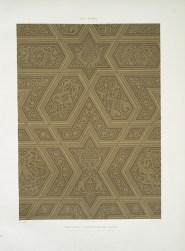 Prisse d'Avennes - L'art arabe 5 - Mosquée cathédrale de Qous assemblage & détails des pièces du mimbar (XIIe. siècle) 1 (1877)