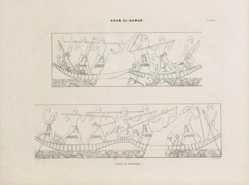 2 - Monuments égyptiens, bas-reliefs, peintures, inscriptions, etc., d'après les dessins exécutés sur les lieux par E. Prisse d'Avennes, pour faire suite aux Monuments de l'Egypte et de la Nubie, de Champollion le Jeune