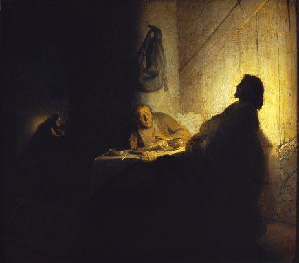 Rembrandt - Les pèlerins d'Emmaüs