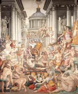 Agnolo Bronzino - Le martyre de Saint-Laurent - Basilique San Lorenzo - Florence (1560)
