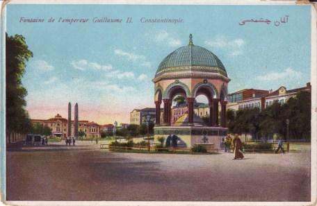 Vieilles cartes postales - Istanbul - 10 - L'hippodrome et la fontaine de Guillaume II