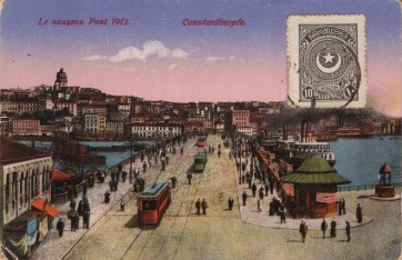 Vieilles cartes postales - Istanbul - 14 - le Pont Atatürk