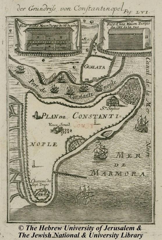 09 - Johann David Zunner - Der Grundriss von Constantinopel - 1686