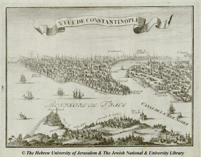 10 - Nicolas de Fer - Veue de Constantinople - Les forces de l'Europe, ou description des principales villes - 1696