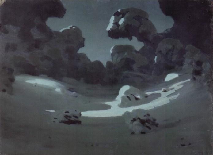 Arkhip Ivanovich Kuindzhi - Clair de lune dans la forêt en hiver - 1898-1908