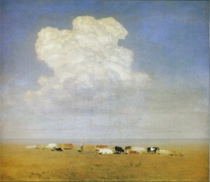 Arkhip Ivanovich Kuindzhi - Midi, troupeau dans la steppe - 1895
