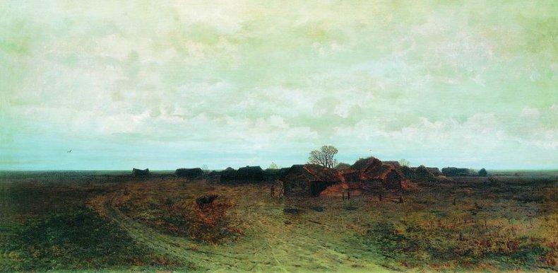 Arkhip Ivanovich Kuindzhi - Village oublié - 1874