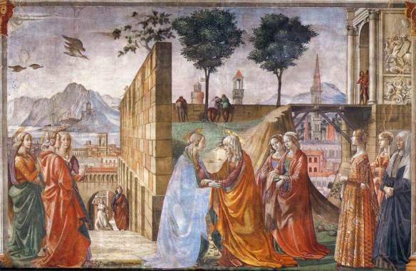 Domenico Ghirlandaio - Cappella Tornabuoni -  Santa Maria Novella - Visitation (1486-90)