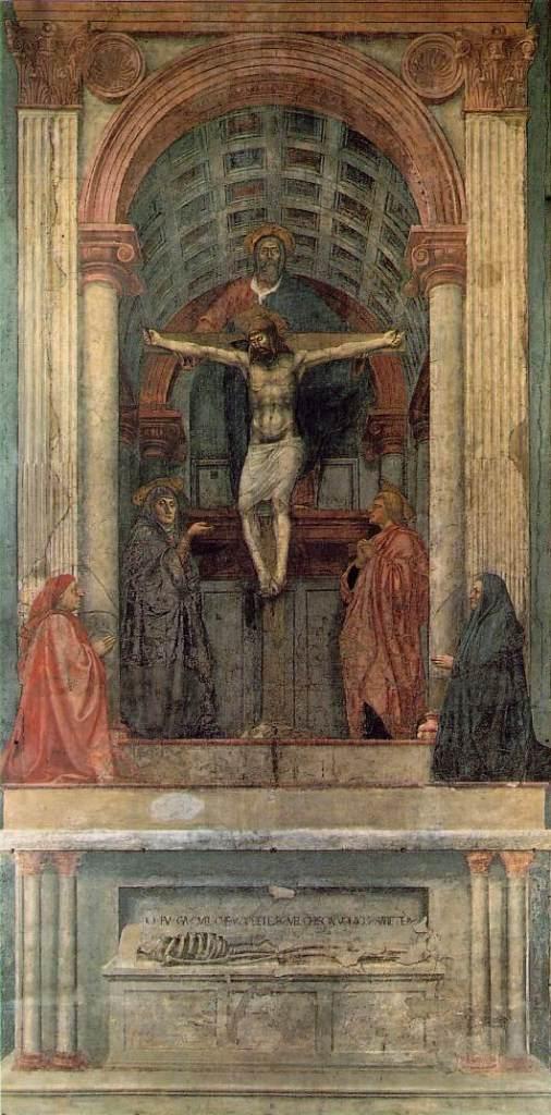 Masaccio - Trinité - Santa Maria Novella - (1425-1428)